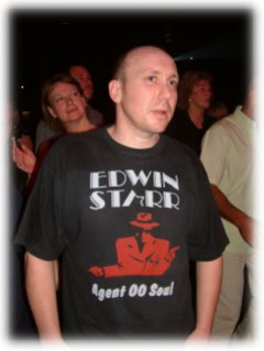fan Lee of Devizes, Wiltshire, sporting a classic T-shirt